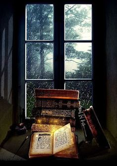 sonia-in-a-bookish-world: There's always a little bit of magic in rainy days… Rainy Day Read by FictionChick I Love Books, Books To Read, World Of Books, Old Books, Pics Of Books, Book Nooks, Library Books, Belle Photo, Book Lovers