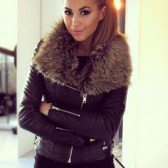 Leather Fur Black Jacket - Shop for Leather Fur Black Jacket on Wheretoget