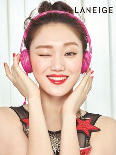 """Lee Sung Kyung x LANEIGE """"Song from Shining Lips"""" Korean Girl, Asian Girl, Swag Couples, Korean Makeup Look, Lee Sung Kyung, Park Bo Young, Weightlifting Fairy Kim Bok Joo, Laneige, Kdrama Actors"""