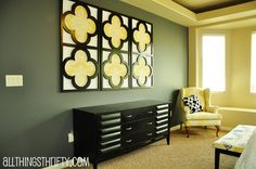 Marvelous DIY Black-Painted Quatrefoil Frames Decorative Wall Art for Contemporary Bedroom Decor - Decoration Gallery on Stupic.com. Marvelous DIY Black-Painted Quatrefoil Frames Decorative Wall Art for Contemporary Bedroom Decor, plus 38 hi-res photos of stunning decoration designs from the Inspirational DIY Decorative Wall Art Ideas gallery, contemporary interior design, interior design, home interior, home design, home decor, modern home design