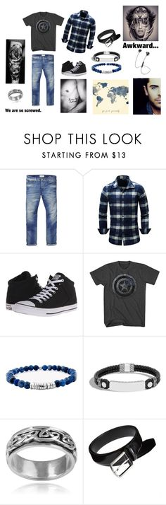 """""""Not All Who Wander Are Lost-Ian Sinclair"""" by tymartz1424 ❤ liked on Polyvore featuring Scotch & Soda, Converse, John Hardy, Vance Co., i.am+, men's fashion and menswear"""