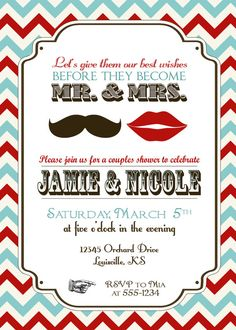 vintage mr and mrs couples wedding shower by