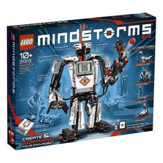 LEGO MINDSTORMS 2013 includes three interactive servo motors, remote control, improved and redesigned colour sensor, redesigned touch sensor, infrared sensor and LEGO Technic elements. For 10 years and over. Lego Technic, Lego Duplo, Lego Ninjago, Lego Ev3, Lego Mindstorms Ev3, Robot Lego, Lego Toys, Lego Chima, Diy Robot