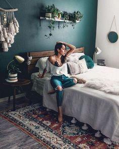 Bohemian Bedroom And Bedding Design Bohemian Bedroom And Beddi. - Bohemian Bedroom And Bedding Design Bohemian Bedroom And Beddi. Bohemian Bedroom Design, Bedroom Bed Design, Bedroom Inspo, Home Bedroom, Modern Bedroom, Bedroom Designs, Modern Bohemian Bedrooms, Master Bedroom, Natural Bedroom