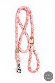 "Rope dog leash pet supplies dog collar dog lead: Medium marbled fire red cotton blend rope 65""Medium marbled berry cotton blend rope leash. $38.00, via Etsy."