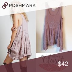 Free People Trapeze Slip- Misty Pink Great color for fall! New condition, never worn. *Inner tag cut to prevent store returns Free People Dresses
