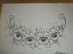 Pintura em Tecido Passo a Passo: Como pintar Amor-perfeito