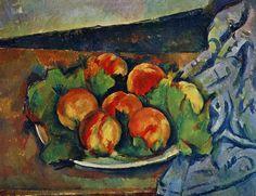 Dish of Peaches - Paul Cezanne
