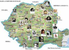 Harta scriitorilor romani Literatura