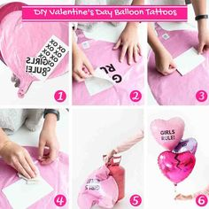 Use tattoo paper to print your own balloon messages!