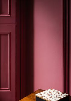 Wall: Rhubarb 376 – Pure Flat Emulsion Door: Rhubarb 376 – Architects' Eggshell
