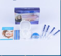 29.80$  Buy now - http://ali7gi.shopchina.info/go.php?t=32683058730 - Professional Teeth Whitening Kit Bleaching System Bright White Smiles Tooth Whitening Kit With LED Light Oral care Hygiene tool 29.80$ #aliexpressideas