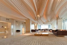 Thailand's Hilton Hotel Features Stunning Interiors Inspired by the Sea's Deep Currents   Inhabitat - Green Design, Innovation, Architecture, Green Building