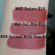 Mac Retro/Del Rio dupe Wnw Spiked with rum