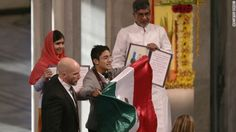 Oslo police say they arrested a Mexican citizen who interrupted the Nobel Peace Prize ceremony Wednesday.