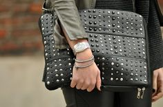 2013/2014 trend in Handbags   trends 2013 2014 trend 2014 bags accessories Studded Clutch Bags ...