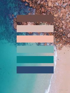 'Strand Farbpalette' by Kilian Luc Colour Pallette, Colour Schemes, Color Combos, Color Patterns, Beach Color Palettes, Color Palate, Color Psychology, Psychology Meaning, Psychology Studies