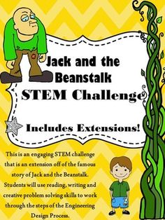 This is an engaging STEM or STEAM challenge that is tied to the story Jack and the Beanstalk. In this challenge, students will have to design and construct a beanstalk that could help Jack return to the land of the Giants. This unit incorporates reading, writing, creative problem solving and engineering skills in a very authentic way.