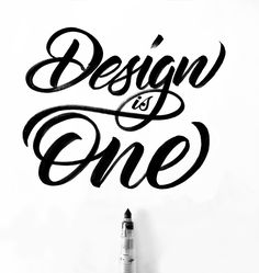 design is one hand lettering calligraphy