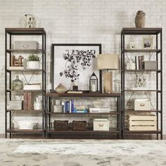 Somme Rustic Metal Frame 6-tier Bookshelf Media Tower by iNSPIRE Q Classic