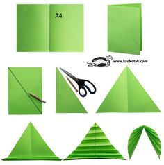 Gorgeous cut paper and folded leaves! You could draw veins in on them too!