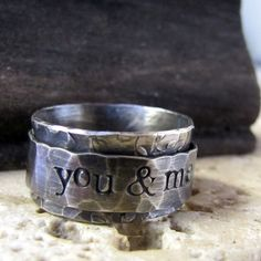 SAVE NOW Rustic Spinner Ring personalized by tinahdee on Etsy 14k Gold Ring, Gold Rings, Silver Ring, Green Copper, Copper Jewelry, Beaded Jewelry, Jewellery, Unique Rings, How To Find Out