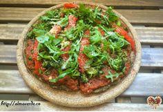Pizza  pâte farines pois-chiche-chanvre / Pizza de harina de garbanzos y cáñamo #vegan #singluten  #almaverde @Mj0glutenVG #0-GlutenVegeBrest #Pizza #harinadegarbanzos #cáñamo #poischiche #chanvre