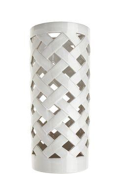 Umbrella Standin White Ceramic fromCalypso St. Barth