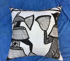 African Tribal Mudcloth Pillow on Chairish.com