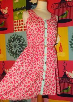 YUMI ON LINE: NEW LOOK ROBE DRESS PREPPY FOLK COEURS T UK 10 OU ...