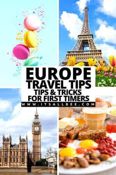 Top tips for traveling to Europe for the first time. Europe travel tips for first-time visitors. Tips on currency, safety, transportation, packing, budgets. Tips on how to plan a trip to Europe, cool tips and tricks to skip the lines. | Traveling Europe on a Budget | Traveling Tips For Europe | Flying To Europe Tips | What To Bring When Travelling To Europe | Safety Tips For Traveling To Europe | Europe In Winter Travel Tips | Europe travel destinations | Europe Travel Tips How To Save Money European Travel Tips, Travel Tips For Europe, Traveling Europe, Traveling Tips, European Destination, Best Places To Travel, Travel Destinations, Travelling, European Tour