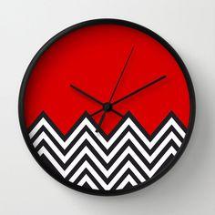 Modern red Clock Modern Wall Clock Modern by STANLEYprintHOUSE