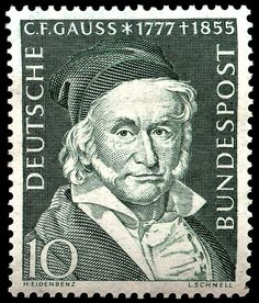 Stamp - Gauss - Germany 1955