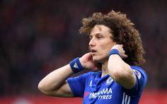 Scarica sfondi David Luiz, 4k, giocatori di calcio, Chelsea FC, Premier League, calcio, Chelsea