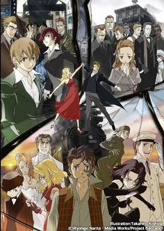 Baccano! Three different events connected by Isac and Miria.