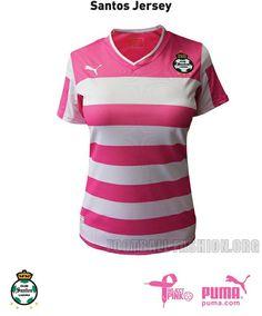 Pumas UNAM & Santos Laguna PUMA Project Pink 2012 Soccer Jerseys / Camisetas