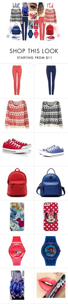 """Untitled #210"" by fgasyhd ❤ liked on Polyvore featuring Oui, Converse, Chicnova Fashion, Swatch, Fiebiger, women's clothing, women, female, woman and misses"