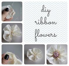 DIY Ribbon Flowers. SO EASY!