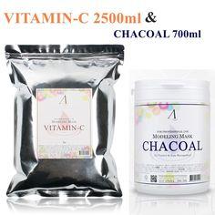 Vitamin-C 2500ml & Charcoal 700ml Powder Masque Moisturizing Brightening & Pore