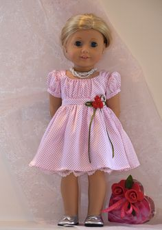 American Girl Valentine ensemble (including little box of chocolates) by Simply 18 Inches sold via eBay auction.