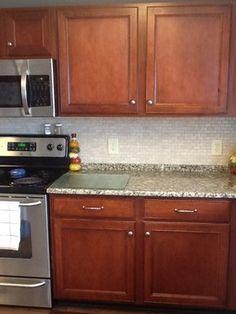 Kitchen Tiles Granite cant decide if i like the granite lip before the backsplash