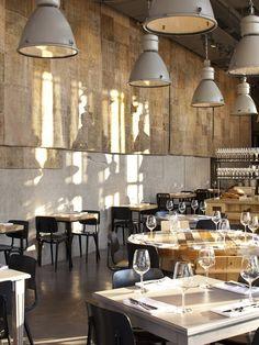 Jaffa restaurant by BK Architects, Tel Aviv store design. lOVE THE SHADOWS!