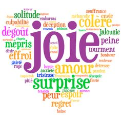 French vocabulary to talk about feelings and emotions. Vocabulaire de sentiments en français.
