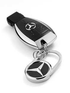 red AMG Carbon red White Keychain Mercedes-Benz Black Key Ring