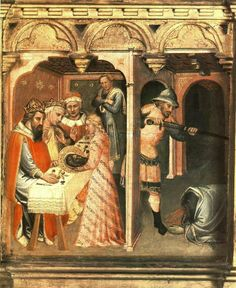 Painting by Spinello Aretino Dated 1385 Italy