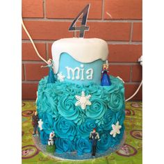 Frozen cake! 4th birthday cake for a girl