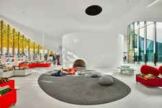 Image 1 of 46 from gallery of Media Library [Third-Place] in Thionville / Dominique Coulon & associés. Photograph by Eugeni PONS Home Library Design, Kids Library, Modern Library, School Library Design, Library Ideas, Architecture Design, Library Architecture, School Architecture, Traditional Home Offices
