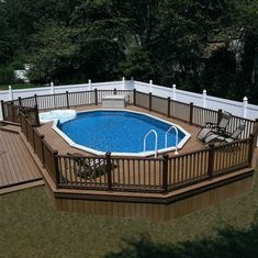Above Ground Pool Ideas - In the summer, people like spending few hours in the swimming pool. However, you may hate the way your above ground pool looks in your backyard. Oberirdischer Pool, Pool Diy, Swimming Pool Decks, Above Ground Swimming Pools, Swimming Pool Designs, In Ground Pools, Oasis Pool, Lap Pools, Semi Inground Pools
