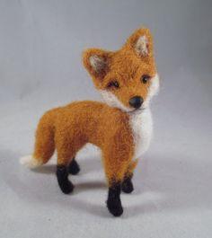 Needle Felted Fox Fox Art Needle Felted Animal von FlomopStudio