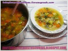 ΣΟΥΠΑ ΛΑΧΑΝΙΚΩΝ!!! - Νόστιμες συνταγές της Γωγώς! Thai Red Curry, Ramen, Food And Drink, Vegetables, Cooking, Ethnic Recipes, Kitchen, Veggies, Kochen